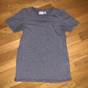 Women's Everlane striped shirt sleeve tee top